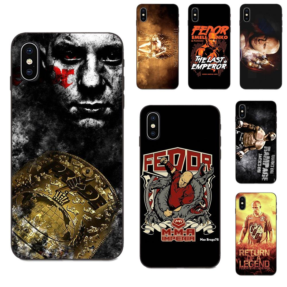 Fedor Emelianenko para Apple iPhone X XS X Max XR 4 4S 5 5S SE 6 6S 7 8 Plus suave de lujo