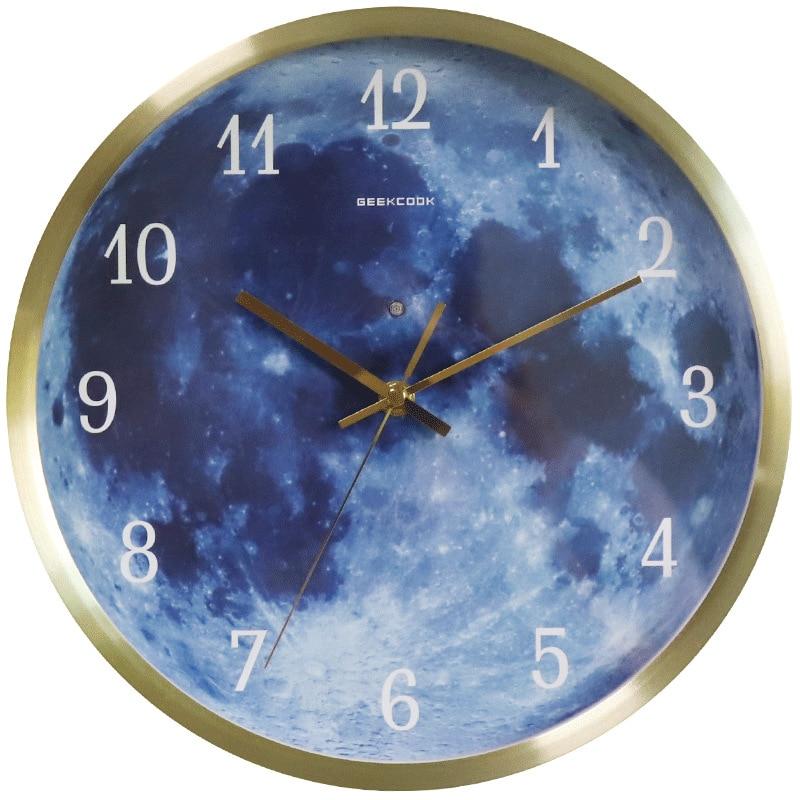 Starry a millet of blue moon luminous wall clock luminous wall clock enlarge