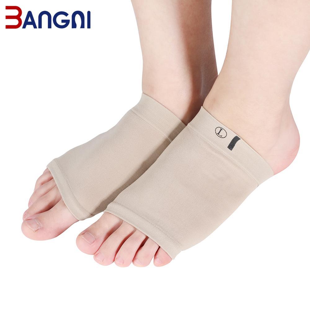 3ANGNI, 1 par, calcetines de soporte de arco, almohadilla de arco de silicona, plantilla para aliviar el dolor en el pie para mujeres, cojín de zapatos