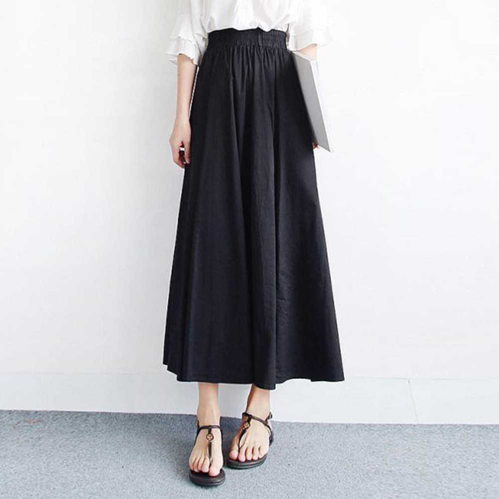 Korean Fashion 2021 Summer New Women's Solid Color Simple Loose Casual High Waist Skirt Japanese Sty