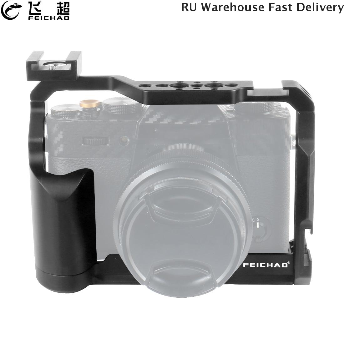 XT-20 XT-30 كاميرا قفص تزوير CNC النموذج المجهزة ل فوجي فيلم XT20 XT30 فيديو DSLR واقية إطار 1/4 3/8 الباردة حذاء w كابل المشبك