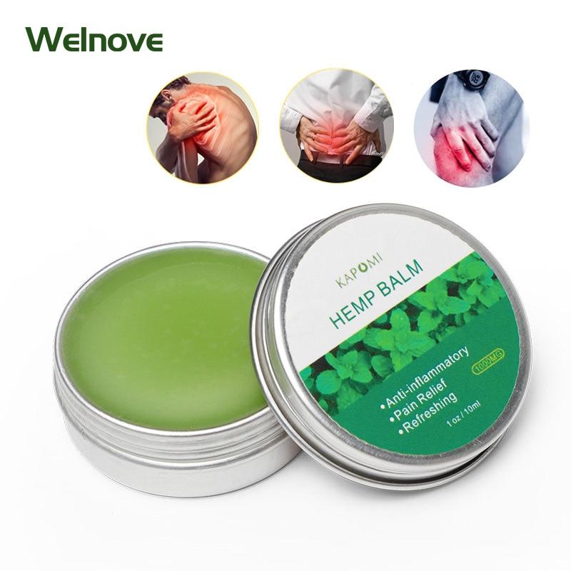 30ml Natural Anti-Inflammation Hemp Cream for Neck Pain Balm Ointment Pain Relief Relieve Muscle Lumbar Spine Relief Hemp Balm недорого