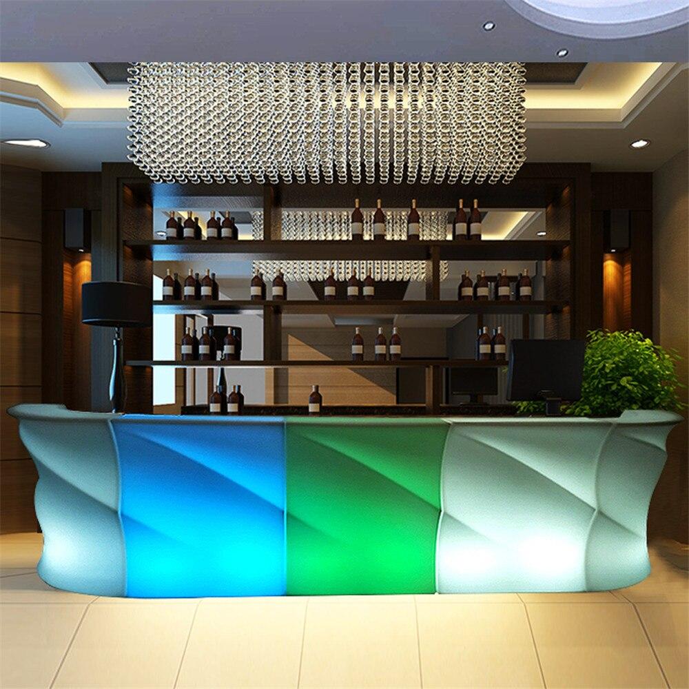 Простая современная светодиодная креативная барная стойка винный шкаф KTV кассира для активного отдыха водонепроницаемая мебель барный ком...