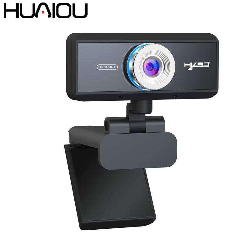 HUAIOU HD 1080P Webcam micrófono incorporado Auto Focus High-end Video llamada computadora periférica cámara para PC Laptop ip Cámara
