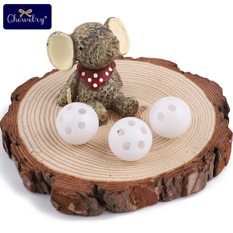 10pcs 24mm Squeaker Plastic Rattle Bell Balls Baby Toys DIY Rattle Beads Noise Maker Baby Nursing Bracelets Necklace Kids Goods
