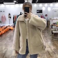 faux motocycle 30 wool fur jacket teddy female 2020 warm winter coat women plus size