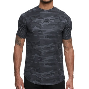 Fashion New Men Fitness T-Shirt Workout Casual Gym  Men T Shirt
