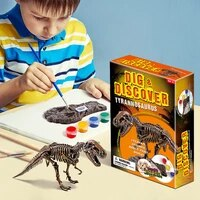 new diy archaeological excavation simulation favorites dinosaur fossil model childrens educational 3d painted puzzle toy gift