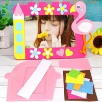 diy handmade cartoon 3d photo frame picture non woven material package toys for children animal home decor kids crafts and arts
