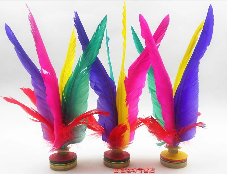 Envío Gratis 36 Uds. Kikbo Kick shuttleocks, jianzi de China pluma Kick tamaño grande 22 cm