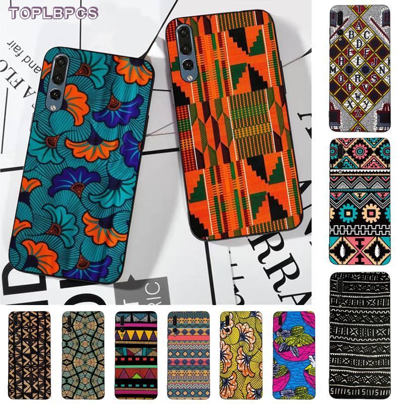 TOPLBPCS tela de estilo africano impresión funda del teléfono carcasa para huawei P8 P9 p10 p20 P30 P40 pro lite psmart 2019