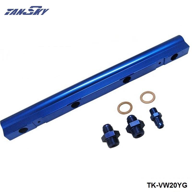 Для VW Audi 20V 1,8 T Топ подачи инжектор Топливная рейка турбо комплект синяя алюминиевая заготовка HQ jdm TK-VW20YG
