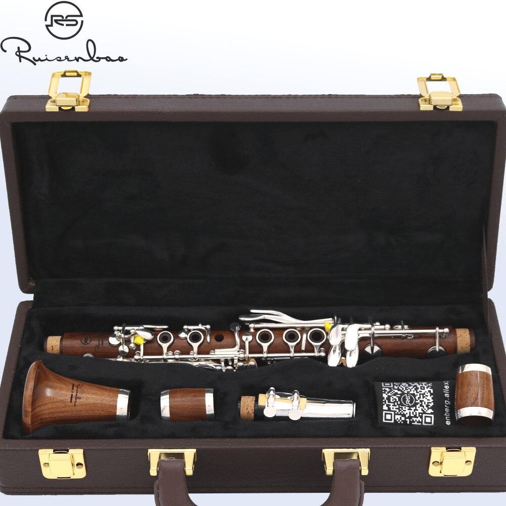 Nouveau Eb 17 touches clarinette professionnelle Rose bois clarinette E plat doux ton