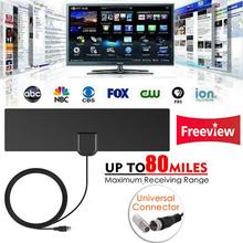 Antena ndoor Digital HDTV con amplificador radio aéreo TV Surf Fox DVB-T2 DVB-T ATSC ISDB TV antenas interiores ANT0830 + AM