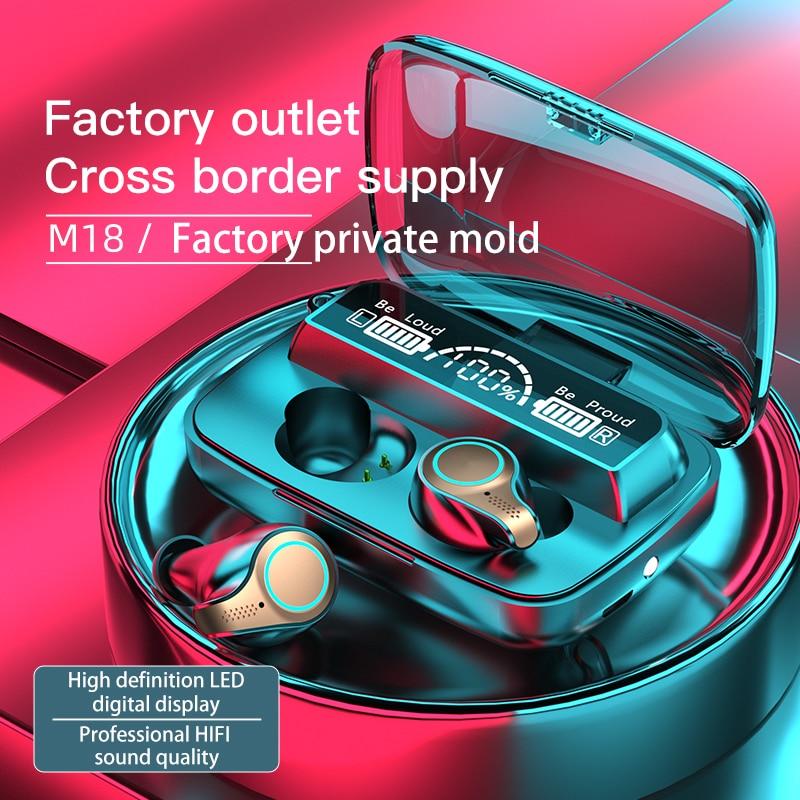 TWS Wireless Headphone Bluetooth 5.1 Earphones 9D Stereo Sports Waterproof Earbuds Headsets With Mic