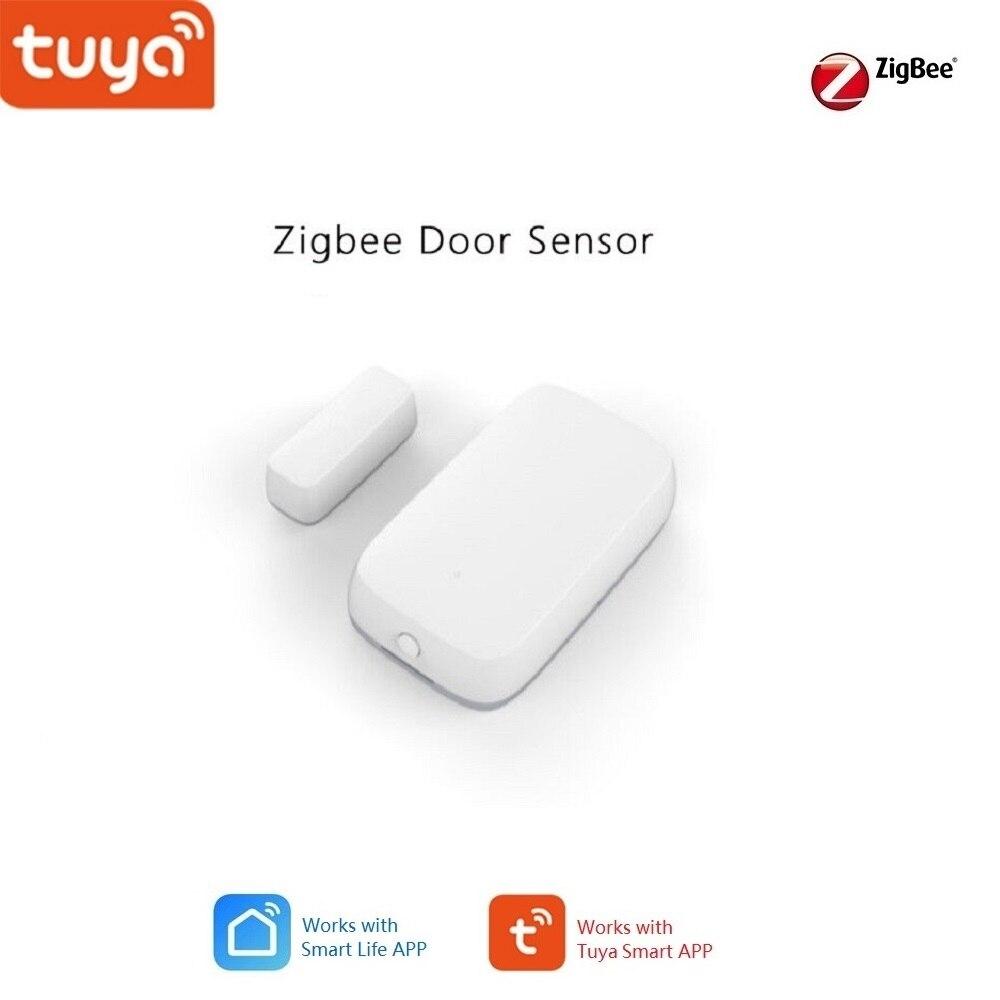 Tuya casa inteligente Zigbee Hub de enlace Sensor de puerta de seguridad alarma Bluetooth funciona Alexa Google
