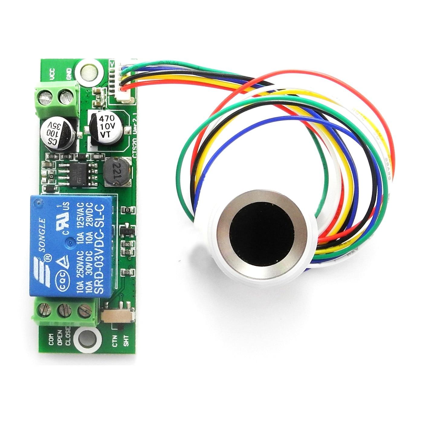 Módulo de Identificación de huella dactilar BIO DIY Módulo de relé de Control de autenticación de huella dactilar para Control de acceso 12V 24V