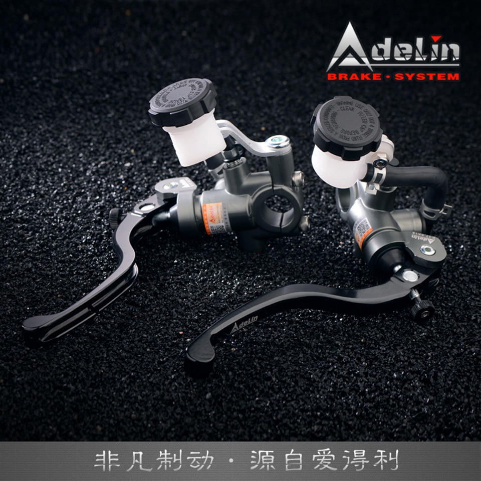 Un par Adelin PX-1 14/15/16/17.5 * 18RCS, embrague de motocicleta, cilindro maestro, bomba de freno hidráulica Universal para Honda Yamaha