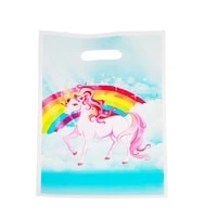 unicorn theme loot bag happy birthday events party kids boys favors decoration plast baby showeric gifts candy bags 10pcslot