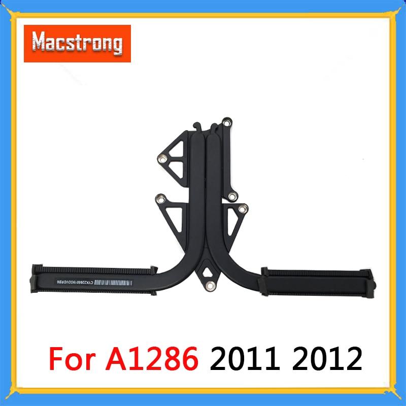 Probado Original A1286 disipador de calor para Macbook Pro 15 A1286 disipador de calor CPU refrigeración 2011 820-2915-A 2012 820-3330-B