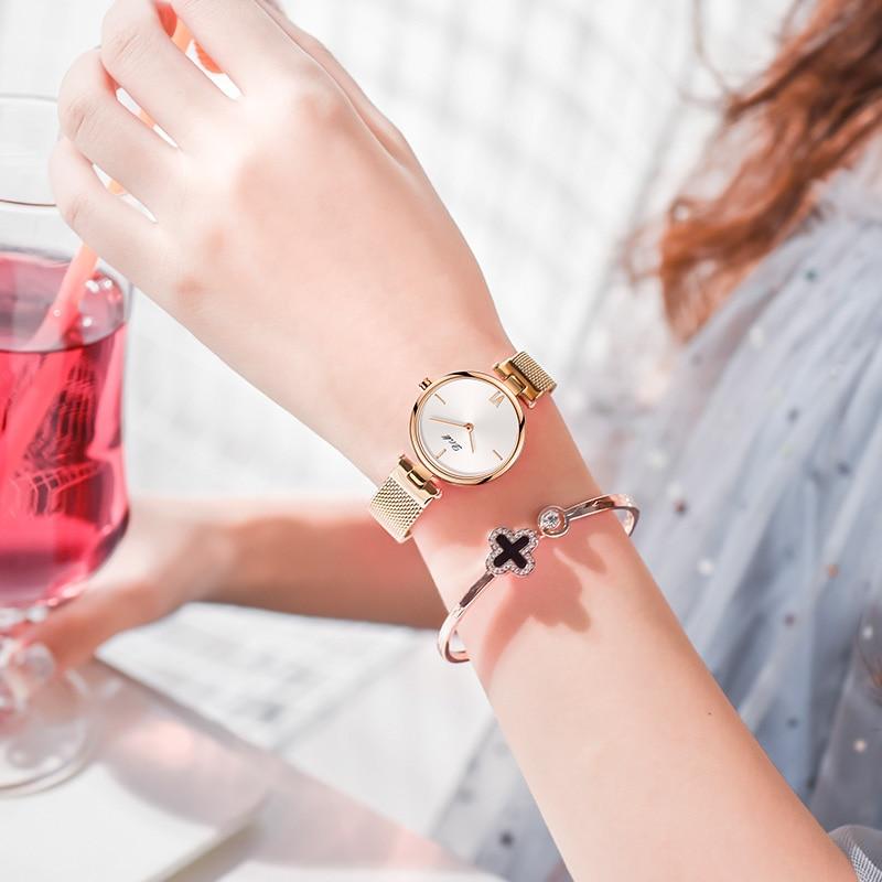 DOM Brand Luxury Women Quartz Watches Minimalism Fashion Casual Female Wristwatch Waterproof Gold Steel Reloj Mujer G-1267G-7M2 enlarge