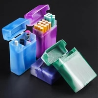 outdoor travel portable cigarette case with compartment waterproof plastic cigarette protector cigarette storage storage box