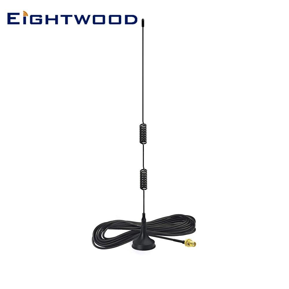 Antena de rádio em dois sentidos handheld sma antena fêmea para kenwood wouxun baofeng walkie talkie rádio de frequência ultraelevada vhf banda dupla