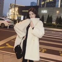 nicky white teddy bear short coat womens 2021 new cashmere high end autumn and winter thickening