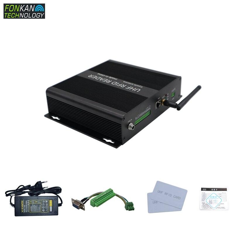 FONKAN 25M R2000 módulo Lector puerto de red WIFI comunicación suministro Industrial lector de etiquetas RFID UHF pasivo Java proporciona SDK
