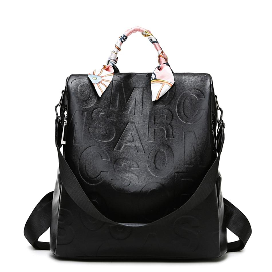 الفاخرة مصمم رسالة النقش المرأة على ظهره لينة جلد الإناث حقيبة السيدات حقيبة السفر حقائب كتف المرأة عادية كيس