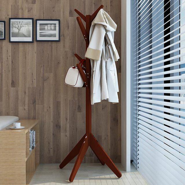 Moderno chapéu rack de madeira maciça em forma de árvore cabide de roupas simples cabide cabide estandes prateleira rack de vestuário para o quarto 60*175cm