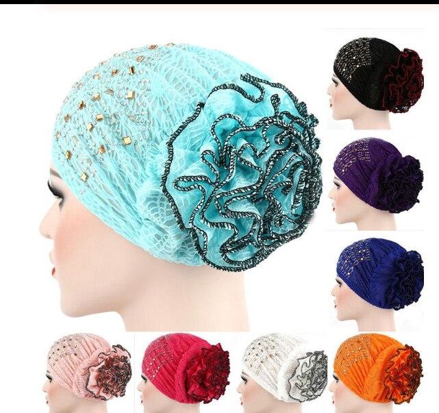 Bufanda musulmana para mujer, gorro de hueso, Hijab, gorro interior para quimioterapia por cáncer, turbante de diamantes de imitación, pañuelo para la cabeza, cubiertas para la caída del cabello, gorro, gorras