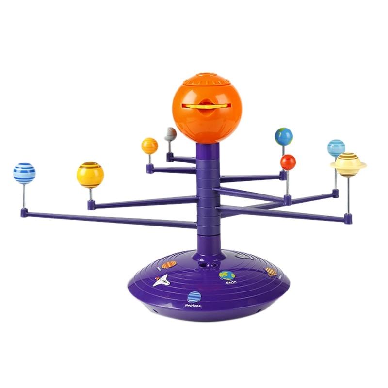 Solar System Sky Projector LED Rotating Voice Control Music Player Tecnology DIY Planetarium Model STEAM Education Toys