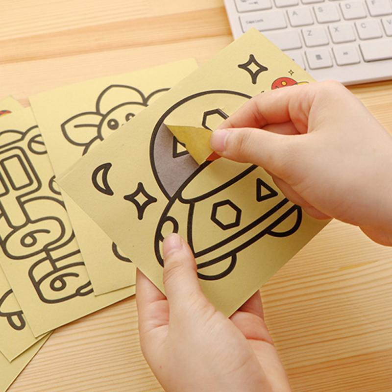 2021 Creative DIY Sand Painting Kids Montessori Toys Children Crafts Doodle Colour Sand Art Pictures