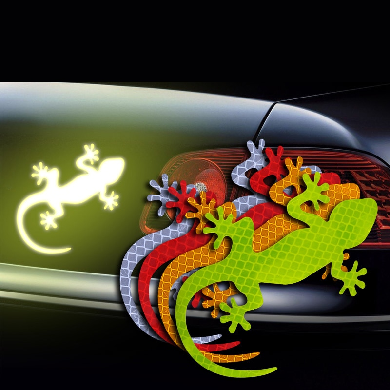 Car Safety Warning Decal Gecko Reflective Sticker for Toyota Corolla RAV4 Yaris Honda Civic CRV Nissan Tiida Accessories