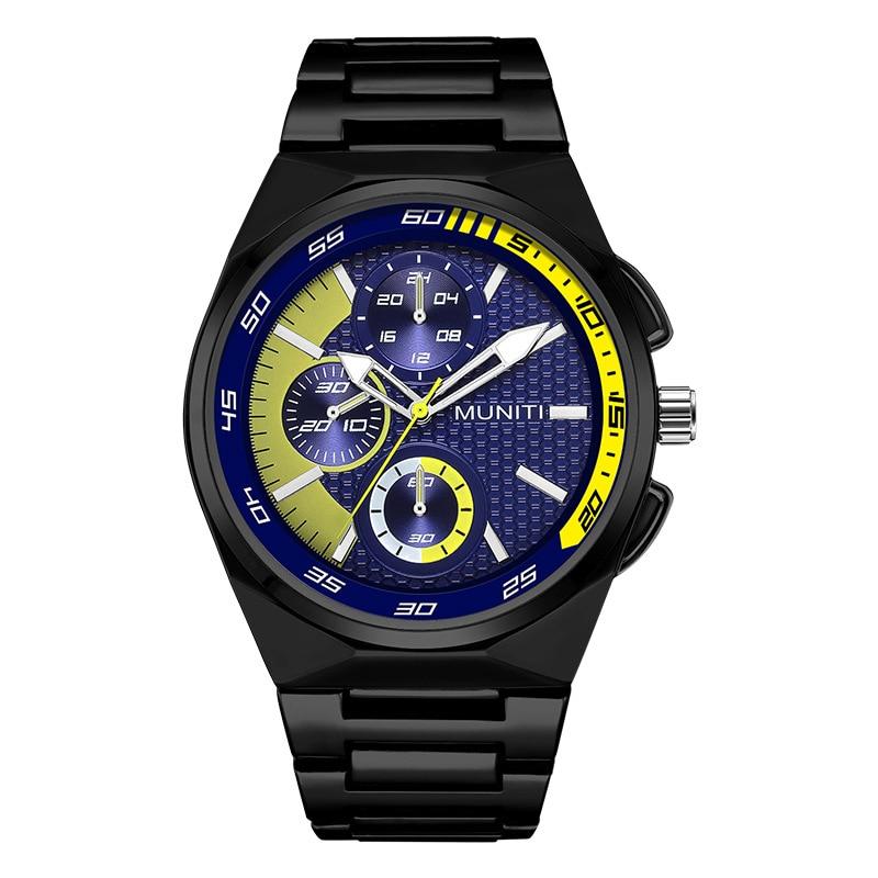 ساعة كوارتز للرجال ، سوار من الفولاذ المقاوم للصدأ ، مقاومة للماء ، IIK1018G ، اتجاه 2021