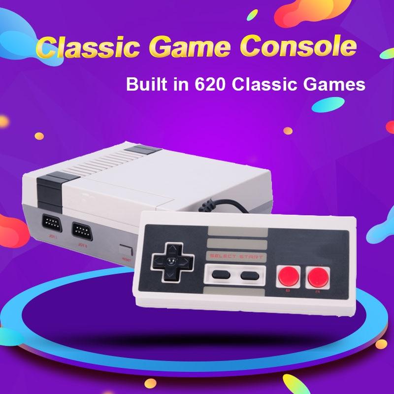 Мини ТВ Видео игровая консоль, консоль NES 8 бит, 620 встроенных ретро-игр, поддержка ТВ выхода, детский подарок