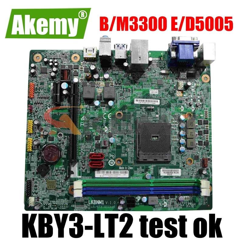 الأصلي لينوفو B3300 M3300 E5005 D5005 سطح المكتب اللوحة KBY3-LT2 LKBNM1 FRU 5B20G75296 MB 100% اختبار سريع السفينة
