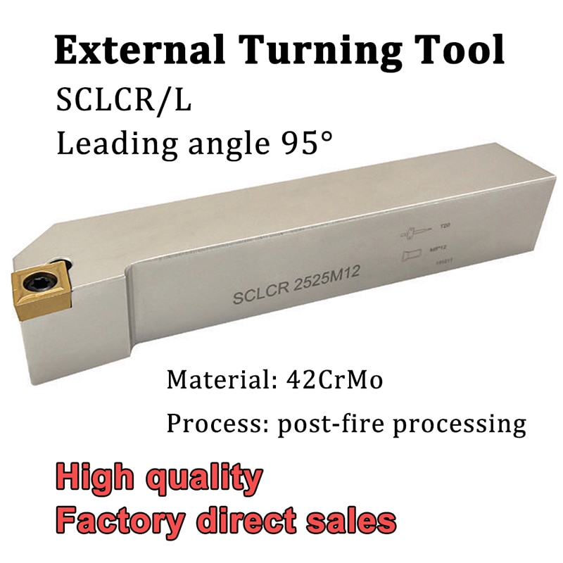 SCLCR SCLCL Turning Tool Holder SCLCR1212H09 SCLCR1616H09 SCLCR2020K09 CNC Lathe Cutter Turning Tool For CCMT09T3 Caibide Insert