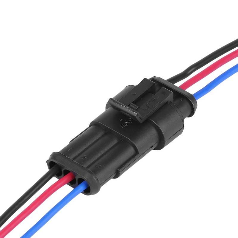 Водонепроницаемый Автомобильный 3-контактный разъем, 3-ходовой автомобильный адаптер, автомобильный провод, электрический разъем, кабель п...
