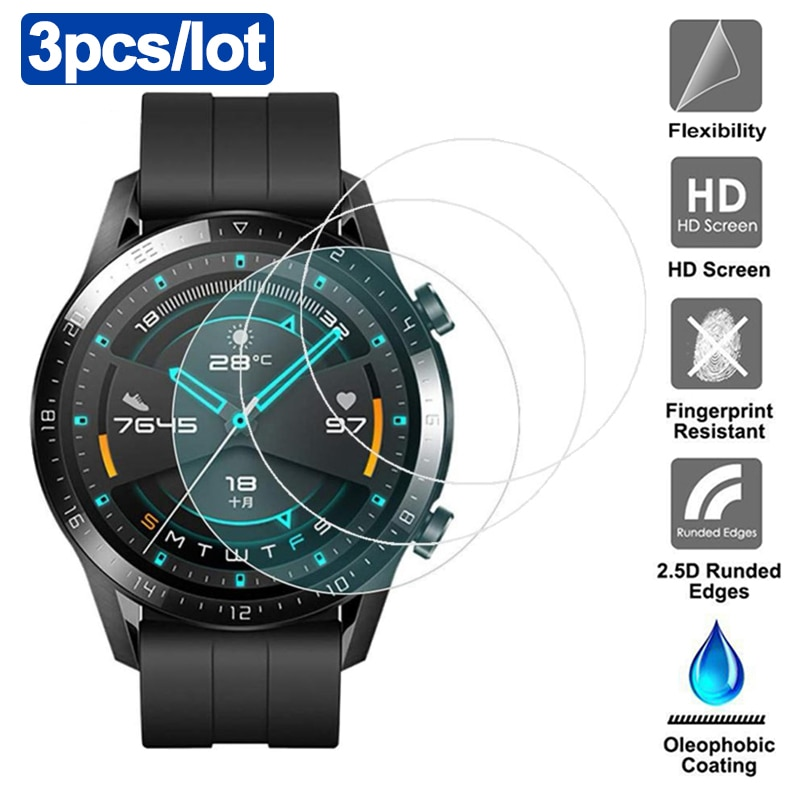 3pcs Tempered Glass For Huawei Watch GT 2 46mm protective Glass For huawei GT2e Screen Protector Fil