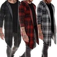 Sweat a capuche a manches longues pour Homme  Streetwear  veste decontractee  collection automne hiver  348