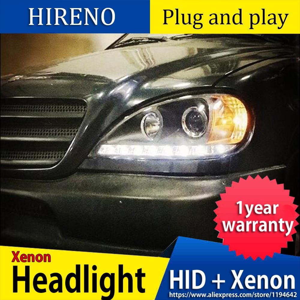 Faros delanteros LED para Benz W163 ML320 ML280 ML350 ML430 faros led señal led drl hid bi-xenon lente haz de luz bajo