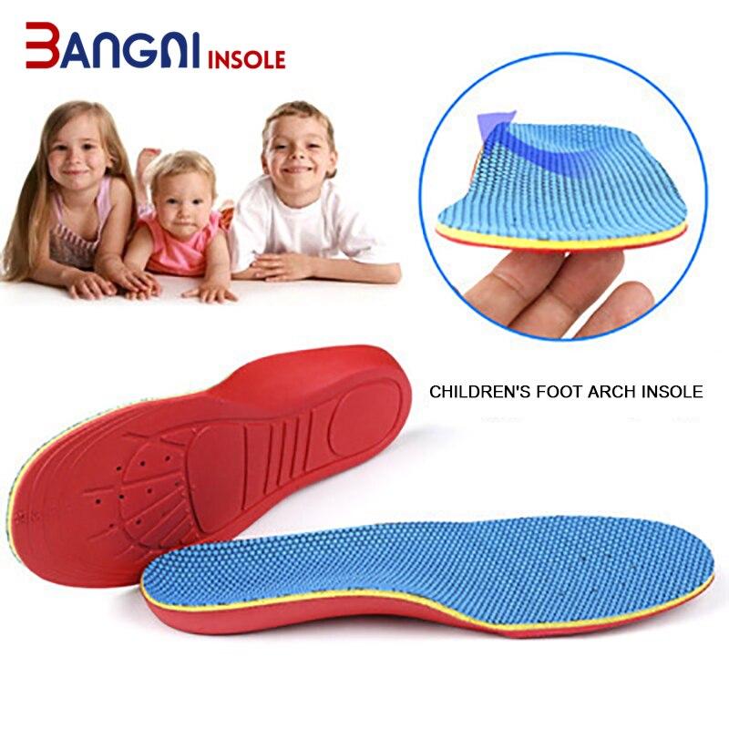 3ANGNI plantillas de los niños plana ortopédico para pie plantilla transpirable absorbente de sudor cómodo de los niños de los deportes de la plantilla