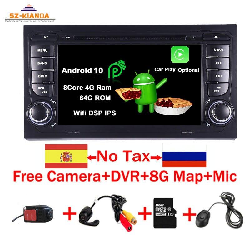 Android 10.0-voiture pour Audi A4 B6 B7 S4   Siège Exeo, lecteur dvd, radio, Bluetooth, lecteur multimédia de voiture