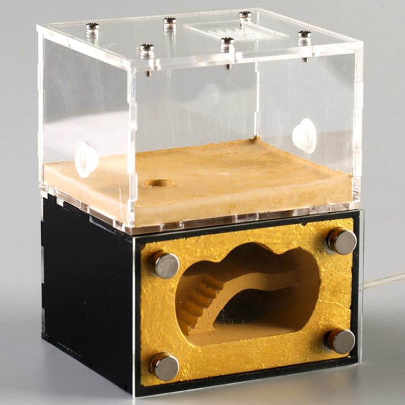 1 Uds. Hormigonera Jubao Lingot S nido pequeño para mascotas, nido biónico, taller, castillo, hormigas, casa de granja
