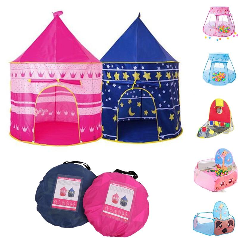 Игровая палатка, портативная складная палатка Tipi Prince, складная палатка для детей, мальчиков, игровой домик, детские подарки, уличные игрушки...