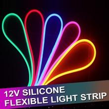 Tube lumineux LED rond en néon bande LED Flexible, cordon lumineux étanche, cordon lumineux dextérieur, 12V DC, SMD 2835, 1/2/3/4/5M, 12 W/M