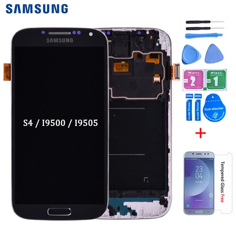 Для Samsung Galaxy S4 i9505 i9500 i337 ЖК-дисплей и кодирующий преобразователь сенсорного экрана в сборе с рамкой можно регулировать яркость