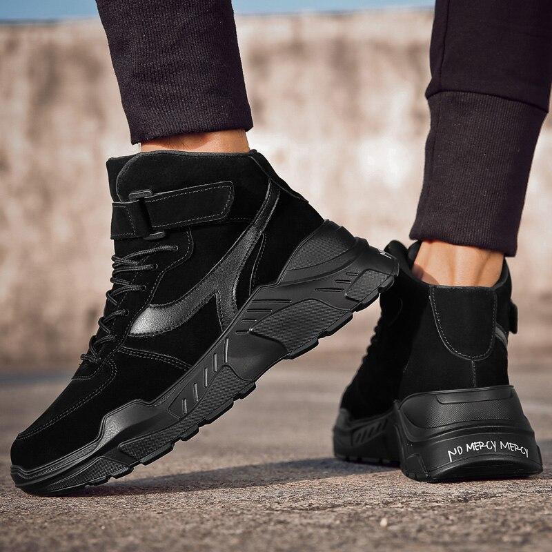 2019 Zapatos gruesos de invierno para hombre, zapatillas transpirables para hombre, zapatillas...
